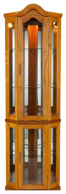 lighted corner curio cabinet traditional china cabinets