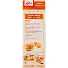 Libbys Pumpkin Muffins Calories by Libby U0027s Pumpkin Cheesecake Kit 17 75 Oz Box Walmart Com