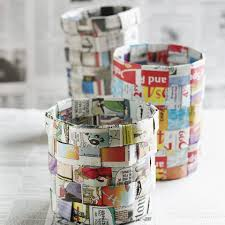 Baskets Newspaper And Recycling Image