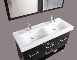 inch modern vanity bathroom furniture double sink cabinet glass top