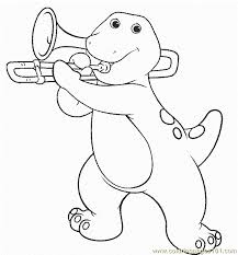 Barney 52 Coloring Page