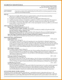 Resumes For Nurses Returning To Work Resume Sample