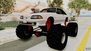 Ford Mustang 1991 Monster Truck For GTA San Andreas Radio Shack Zip Zaps Micor Rc Cars Spiderman Monster Truck Mustang Ford King Cobra 1978 Gta San Andreas Crazy 2 Mustang Monster Truck Wning Mach 1 Mp Races In Bigfoot No1 Original Rtr 110 2wd By Traxxas Shelby Gt500 Monster Truck For Spin Tires Maverick Ion Mt Wild Stang Trucks Wiki Fandom Powered Wikia Shelby Mustang Summit 4wd Blue Tra560764blue Hpi Baja 5r 1970 Boss Asphalt