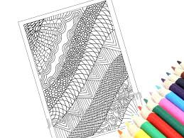 Printable Coloring Page Zentangle Inspired PDF Zendoodle Pattern 19