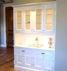 Buffet Hutch Cabinet Dining Room Cabinets White And Mirrored