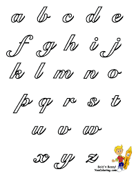 Elegant Cursive Coloring Pages Alphabet To Create Your Own Learning Letters Cards And Posters Easy Free Alphabets In Uppercase Lowercase For