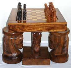 Horse Head Chess Table And Chairs, Beautiful, Unique, One Of A Kind ...
