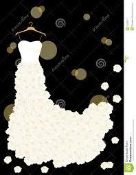 Wedding dress on hanger clipart