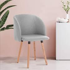 2er set esszimmerstühle aus leinen modell