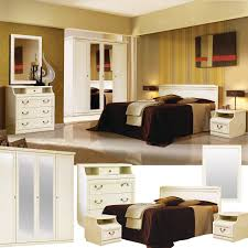schlafzimmer komplett set ninelle schlafzimmermöbel im landhausstil weiß mit goldener patina