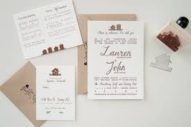 Lauren Johns Rustic Home Letterpress Wedding Invitations