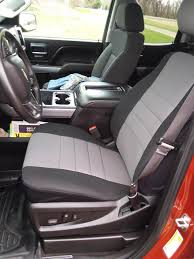 Fia Silverado Custom Fit Neoprene Front Seat Covers - Gray NP98-32 ...