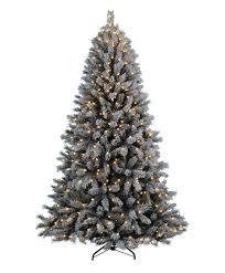 Flocked Pre Lit Pencil Christmas Tree by Pvc Needles Artificial Christmas Trees Tree Classics