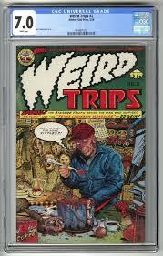 Ed Gein Human Lampshade by Weird Trips 2 1978 1st Appearance Ed Gein Cgc 7 0 Fn Vf W