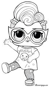 Lol Surprise Coloring Pages Grunge Series 3 Doll Page Unicorn