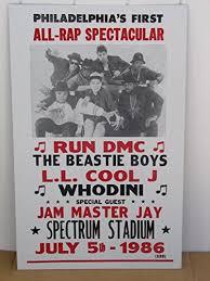 Vintage Philadelphias All RAP Concert Poster 1986 RUN