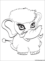 Shiver Pet Of Abbey Bominable Monster High This Coloring Page