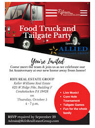 RifeRealEstate Food Truck And Tailgate Party! | BCA Philadelphia Wam 2017 Wchester Arts Music Block Party Registration Sat Food Trucks And More At Leimert Parks Friday Night Arlnowcom Arlington Va Local News West Columbia Pike Unveiling Of First Ever Indoor Truck Super Bowl Kelly Garvey Photography Carnival Party Houston Wedding Taco Dallas Newest The Trail Food Truck Date 93 50 Dates Westport Winter Farmers Market To Hold End Season Farmtofood Gold Coast Street Beer Rooftop Weekend Aint No Like A Especially If That Athens Chickfila Ta Bom Truck Delicious Brazilian In Los Angeles Www