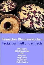 blaubeerkuchen ein rezept für finnischen blaubeerkuchen