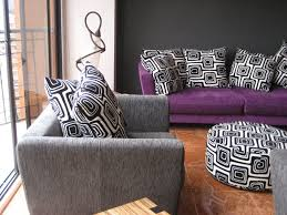 Grey And Purple Living Room Ideas by Purple Living Room Ideas Purple Wall Soft Brown Fabric Riclining
