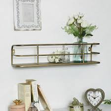 gebürstet gold metall wand regal display aufbewahrung