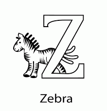 Activity Z Is For Zoo Coloring Page Zipper