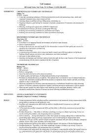 Veterinary Technician Resume Samples