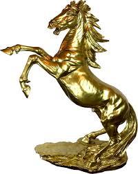 casa padrino designer dekofigur wildes pferd gold h 92 cm wetterbeständige deko skulptur wohnzimmer deko garten deko designer deko tierfigur