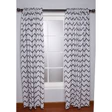 Grey And White Chevron Curtains Walmart by Bacati Ikat Zigzag Chevron Grey Curtain Panel 42 X 84 Inches 100