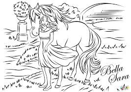 Bunch Ideas Of Bella Sara Coloring Pages About Letter Template
