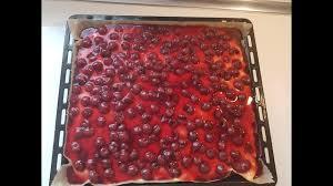 leckerer kirschkuchen mit pudding blechkuchen