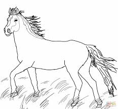 Click The Mustang Wild Horse Coloring Pages To View Printable