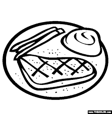 Steak Dinner Coloring Page