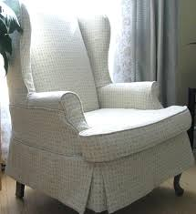 Wingback Chair Slipcover Linen by Queen Anne Wingback Chair Slipcover Chair Covers Wingback Chair