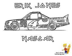 Photo Jones NASCAR Truck Coloring Page