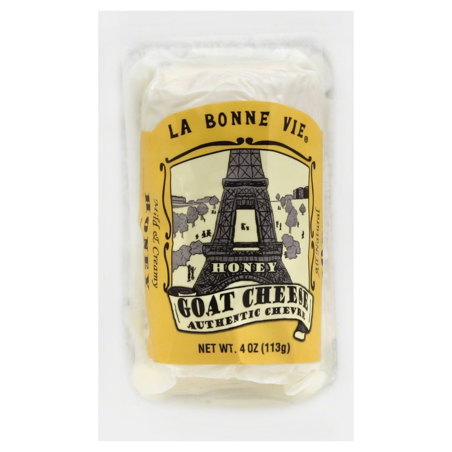 La Bonne Vie Cheese, Goat, Honey - 4 oz