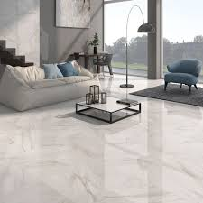 Calacatta White Gloss Floor Tiles Have A Stylish Marble Effect Finish In Either Grey Or Beige These Large Are Made From Quality Porcelain And