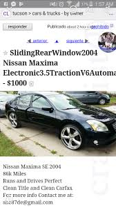 Solved: Nissan Maxima 2004 Pre-owned - The EBay Community