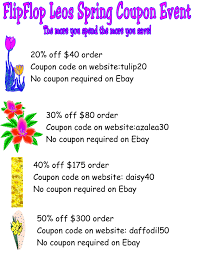 Choose Your Spring Discount At FlipFlop Leos Ebay Gives You A 15 Discount On The Entire Website As Part Printable Outlet Coupons Nike Golden Ginger Wilmington Coupon Great Lakes Skipper Coupon Code 2018 Codes Free 10 Plus Voucher No Minimum Spend Members Only Off App Purchases Today Only Hardforum 5 Off 25 Or More Ymmv Slickdealsnet Ebay Code Free Shipping For Simply Ebay Chase 125 Dollars Promo Ypal Www My T Mobile Norton Renewal Baby Deals Direct Nbury New May 2016