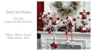 Raz Christmas Trees by Raz Graphic Woodland Collection At Trendy Tree Youtube