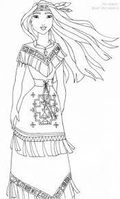 Pocahontas Deluxe Gown Lineart By LadyAmber On DeviantArt Disney PocahontasDisney PrincessesDisney MoviesDisney PixarJohn SmithColoring Book