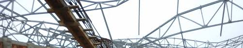100 Bowstring Roof Truss 35 M LARGE OPENING ROOF STRUCTURAL SYSTEM MADE OF HOT ROLLED