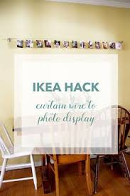 ikea hack curtain wire to photo display redleafstyle com do