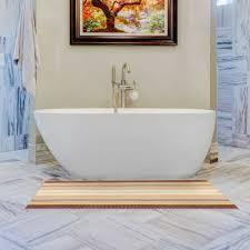 badezimmerzubehör antirutsch badematte braun weiss gelb