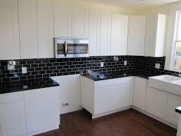 black subway tile backsplash kitchen home design ideas