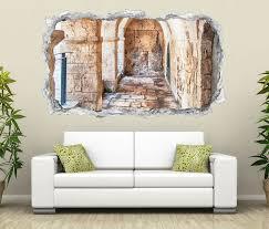3d wandtattoo durchbruch rund durchgang tür flur ruine mauer säule wand aufkleber wanddurchbruch sticker selbstklebend wandbild wandsticker wohnzimmer