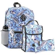Reboot Boys Blue Shark 5 Piece School Backpack Set Includes 16 Insulated Lunch
