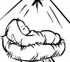 Baby Jesus Coloring Pages Ba In A Manger Page Free Printable