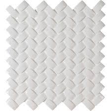 ms international whisper white arched herringbone 12 in x 12 in