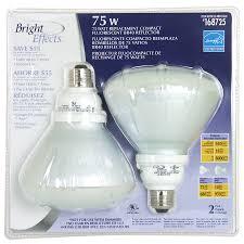 shop utilitech 2 pack 75w equivalent soft white br40 cfl light